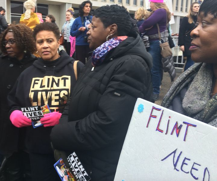 A group came from Flint, Michigan, to ask President Donald Trump to help address the city's water crisis.
