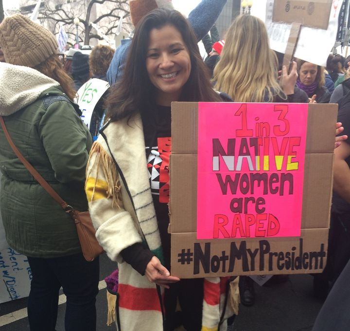 Nellis Kennedy-Howard came to the Women's March to speak out against rape culture.