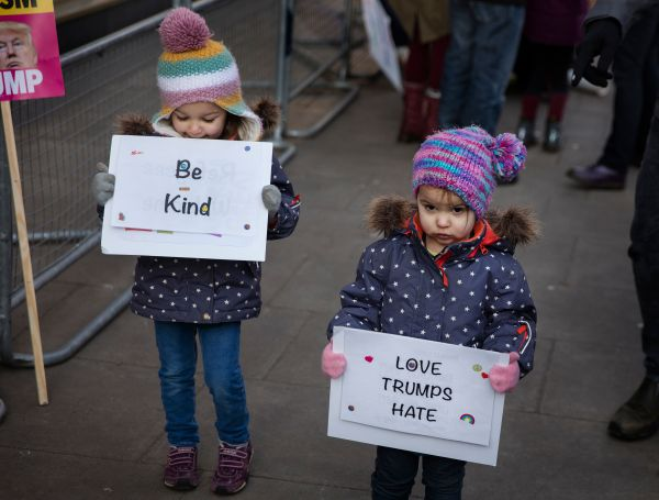 Thousands of people gathered for the Women's March in London.
