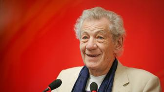 SHANGHAI, CHINA - JUNE 13:  (CHINA OUT) English actor Sir Ian McKellen attends the press conference of Shakespeare on Film during the 19th Shanghai International Film Festival on June 13, 2016 in Shanghai, China.  (Photo by VCG/VCG via Getty Images)