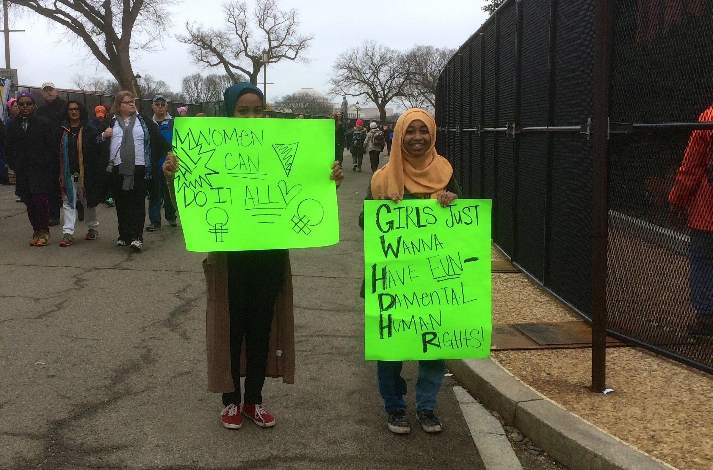Yasminand EkramSeid, 13and 18, respectively, will be runningcircles around us one day.