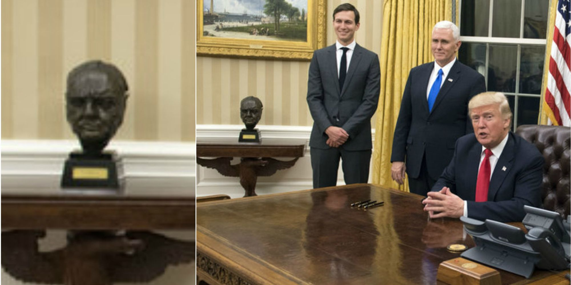 President Donald Trump Returns Bust Of Sir Winston