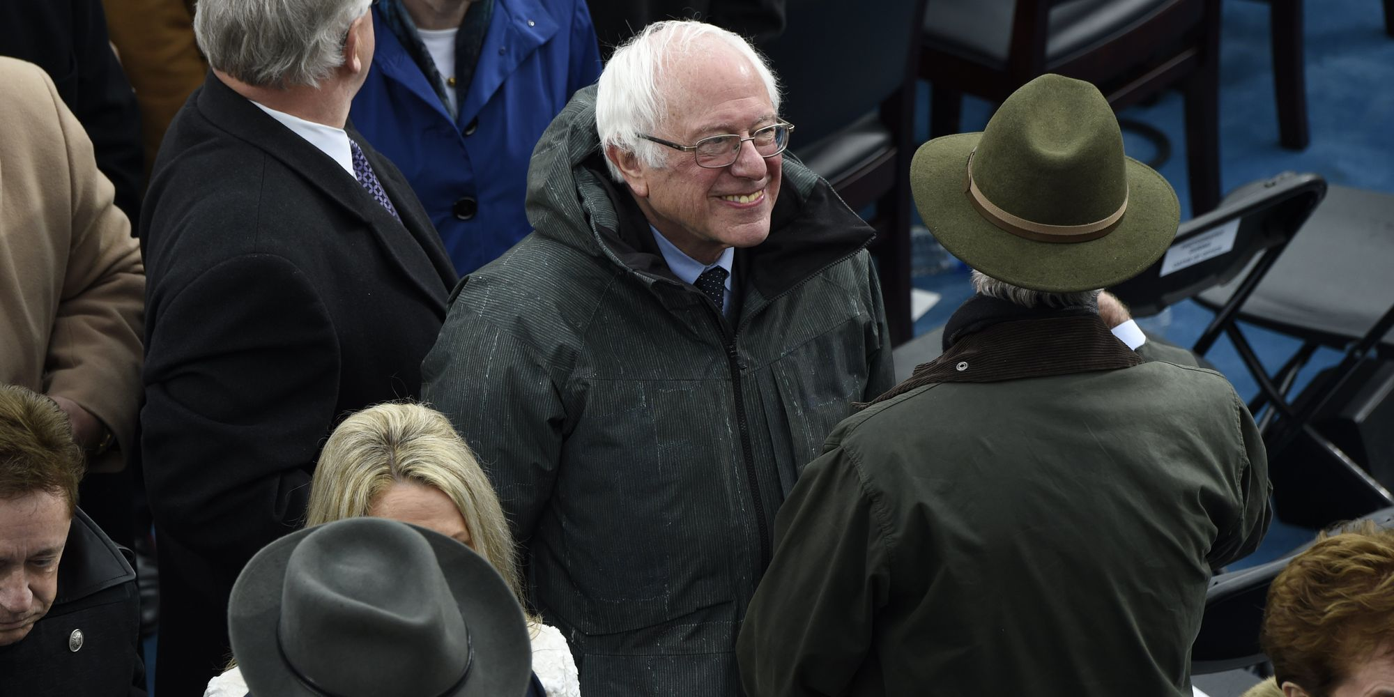 Bernie Sanders Calls Out Trump Inauguration For 'Billionaire After Billionaire' In VIP Section