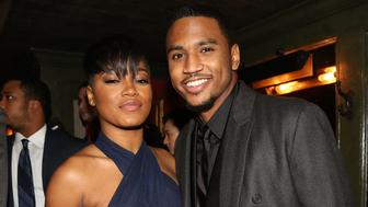 NEW YORK, NY - DECEMBER 01:  (L-R) Keke Palmer and Trey Songz attend Trey Songz 30th Birthday Celebration at The Lion on December 1, 2014 in New York City.  (Photo by Johnny Nunez/WireImage)