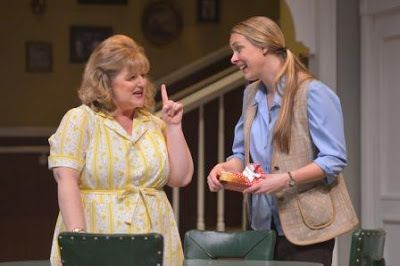 Laura Jane Bailey (Chick Boyle) and Therese Plaehn (Lenny Magrath) in a scene from<strong><em>Crimes of the Heart</em></stro