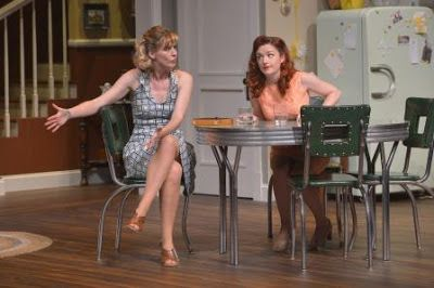 Sarah Moser (Meg Magrath) and Lizzie O'Hara (Babe Magrath) in a scene from<em><strong>Crimes of the Heart</strong></em>