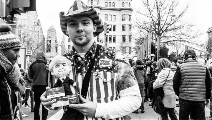 """This guy was super sweet. He's from York, PA, and created this doll. He hopes it can help bring people together around commo"