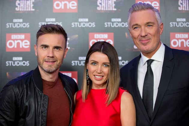 Gary Barlow with fellow judges Dannii Minogue and Martin