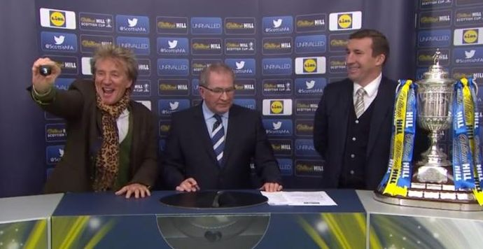 Rod Stewart Hosting The Scottish Cup Draw Is Guaranteed To Put A Smile On Your Face
