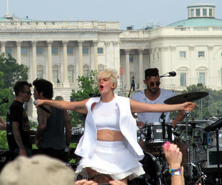 """Seen here performing at Capital City Pride, Betty Who says: """"I would not have a career without the LGBT community."""""""