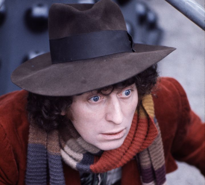 British actor Tom Baker playingDoctor Who in 1974.