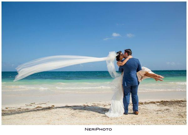 """Kiel and Christina got married at Now Sapphire Resort in Riviera Maya, Mexico."" --<i>Neringa Ridges</i>"