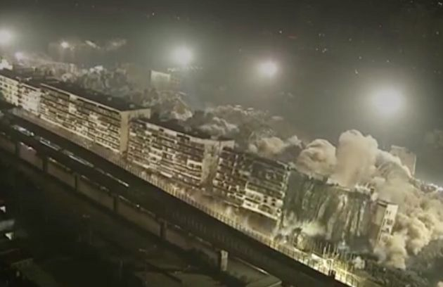Nineteen high-rise buildings exploded in ten seconds in China