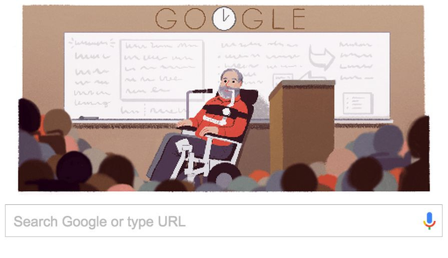 Today's Google Doodle of Ed Roberts.
