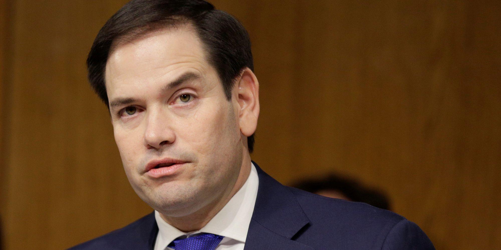 Marco Rubio Backs Rex Tillerson For Secretary Of State