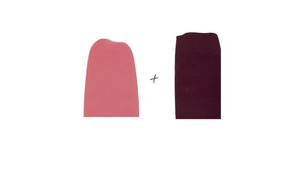 Contrast dark plum with vibrant pink.