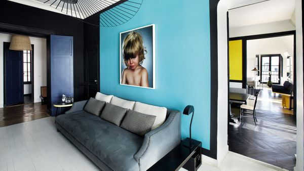 I like the idea of giving each room in the house a strong identity and a specific color. Blue I find particularly pleasing, b