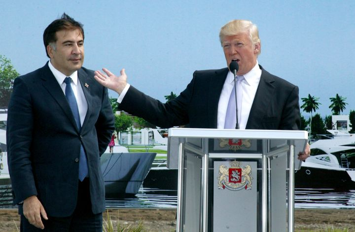 The ex-Georgian leader Saakashvili invoked Trump when launching a new party in Ukraine shortly after the U.S. president was e