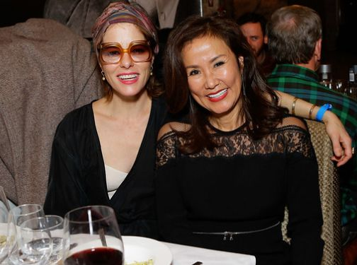 Parker Posey and Mimi Kim share a laugh during ChefDance 2017 sponsored by GiftedTaste, Park City, Utah