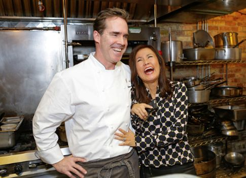 Chef Shawn McClain and Mimi Kim at the first night of ChefDance 2017.