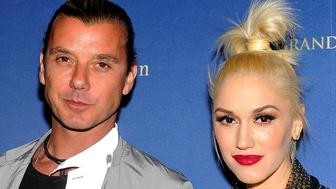 LAS VEGAS, NV - APRIL 27:  Singers Gavin Rossdale (L) and Gwen Stefani arrive at the anniversary celebration of Hakkasan Las Vegas Restaurant and Nightclub at the MGM Grand Hotel/Casino on April 27, 2014 in Las Vegas, Nevada.  (Photo by David Becker/Getty Images)