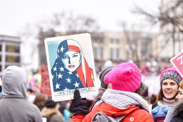 Picture from the Women's March on St. Paul, Minnesota.