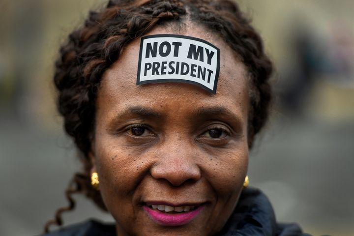 """Not my president."""