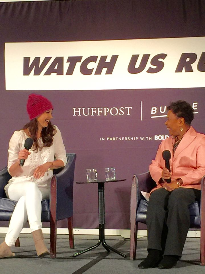 Actor/activist/feminist Ashley Judd and California Congresswoman Barbara Lee  (boycotting the inauguration!) show everyone ho