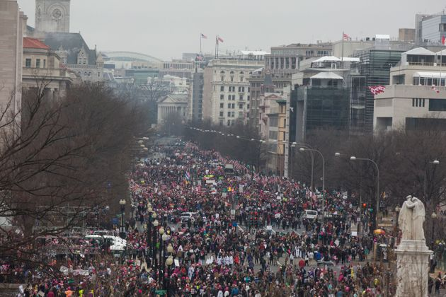 Tens of thousands fill the National Mall for the Women's March on Washington on