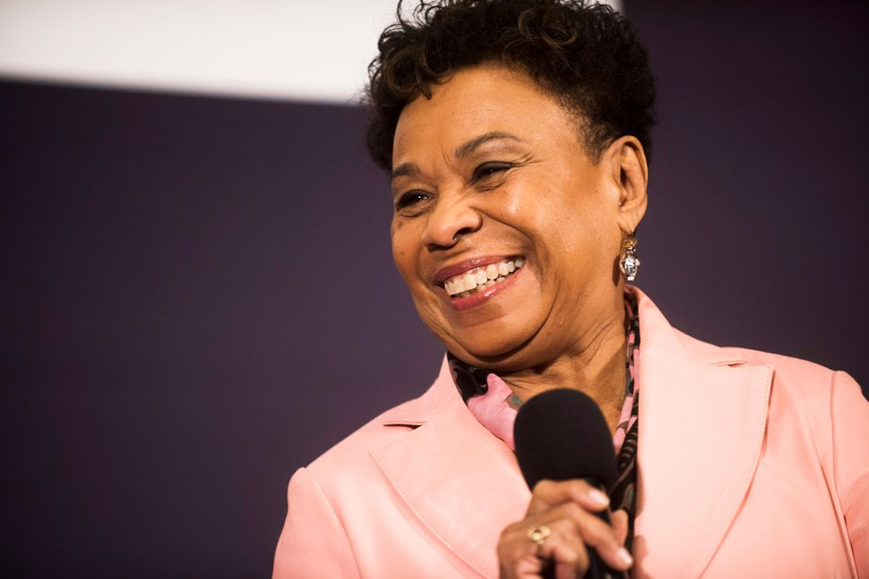 "WASHINGTON, DC - JANUARY 20: Congresswoman Barbara Lee speaks during a Huffington Post/Bustle event called ""Watch Us Run"" at"