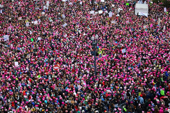 A sea of pink on Independence Avenue, Washington D.C.