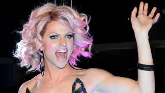LAS VEGAS, NV - MAY 19:  Cast member of season six of 'RuPaul's Drag Race' Courtney Act attends a viewing party for the show's finale at the New Tropicana Las Vegas on May 19, 2014 in Las Vegas, Nevada.  (Photo by Ethan Miller/Getty Images)
