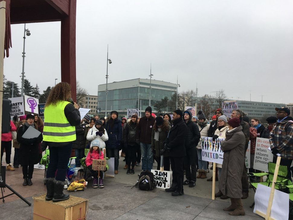 People in Geneva, Switzerland hosted a rally in front of the United Nations building. The rally was organized by a grassroots