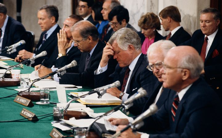 The Senate Judiciary Committee was made up of all white men in 1991.