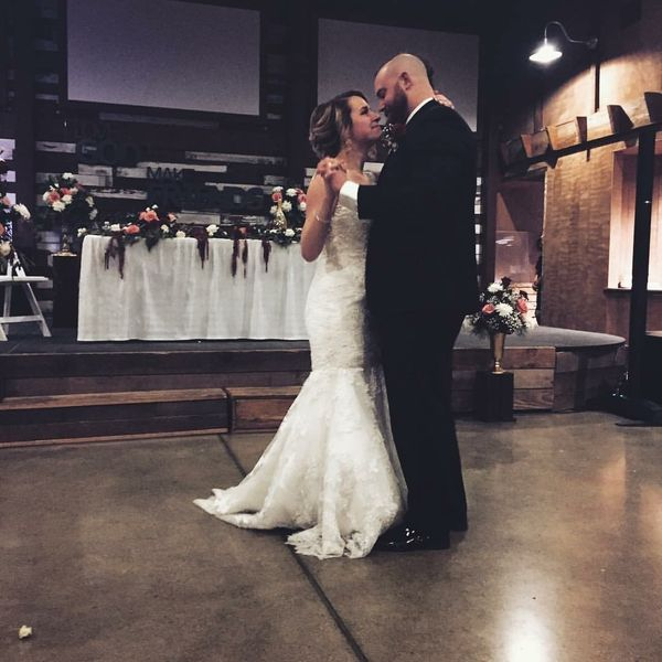 """Our very own wedding last weekend."" -- <i>AJ and Katie Becker</i>"