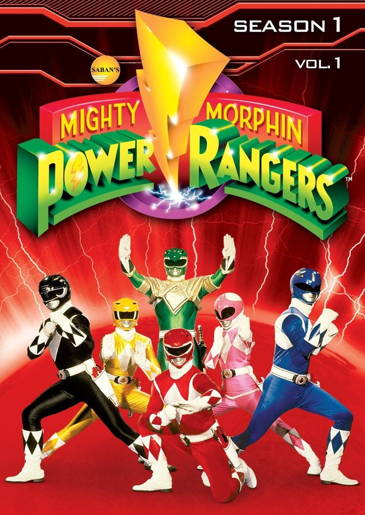 DVD cover of the Mighty Morphin Power Rangers: Season 1, Vol. 1.