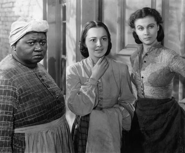 Olivia de Havilland (center), with Hattie McDaniel and Vivien Leigh, in a scene from