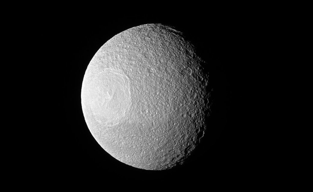 Tethys one of Saturns moons