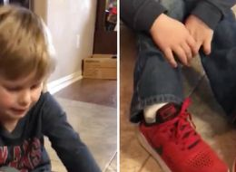 Mum Shares Easy Shoe-Tying Hack For Kids Who Are Struggling