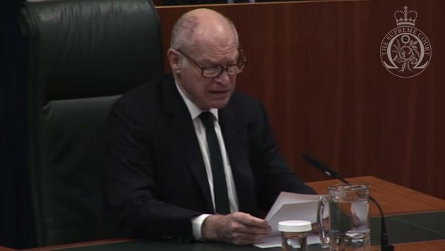Supreme Court PresidentLord Neuberger read out theruling on
