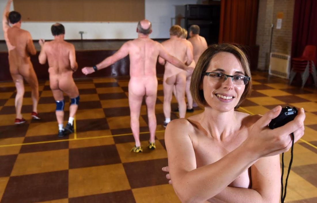Young naked nude exercise funny