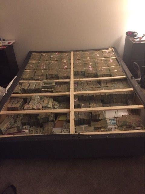 What Nearly $20 Million Stashed Under A Mattress Looks