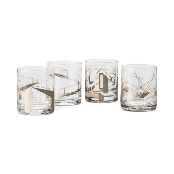Metallic cocktail glasses 4 piece set, $29.99