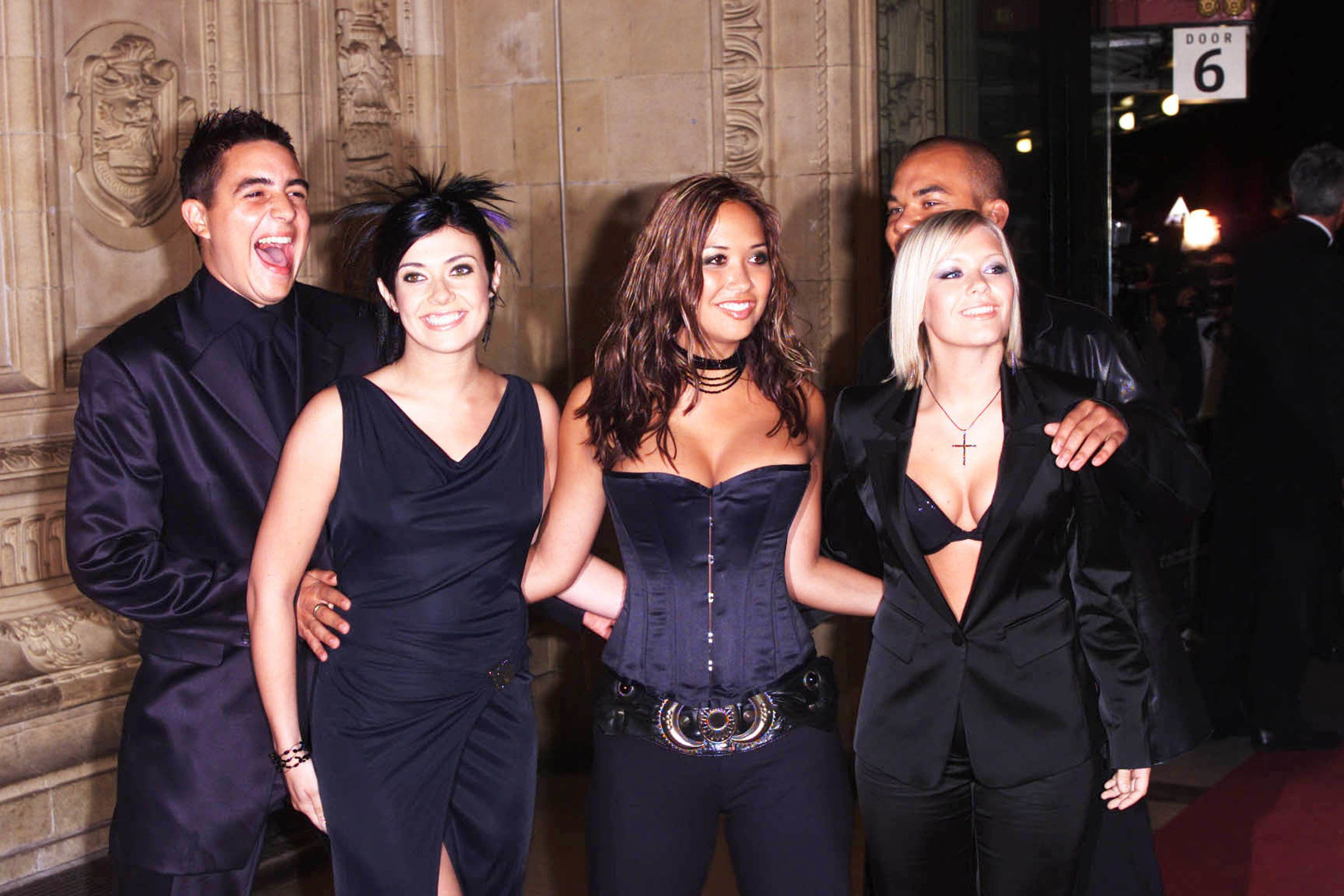 Kym Marsh (second left) in happier days with her Hear'Say