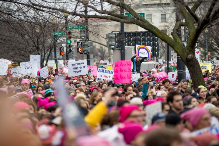 "The New York Times' David Brooks thinks ""the marches couldn't escape the language and tropes of identity politics.&rdqu"