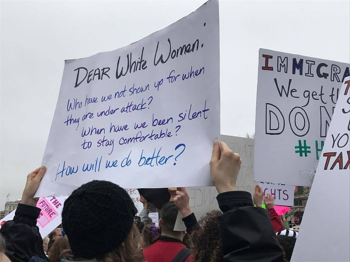 Protester at the Women's March on Washington, January 21.