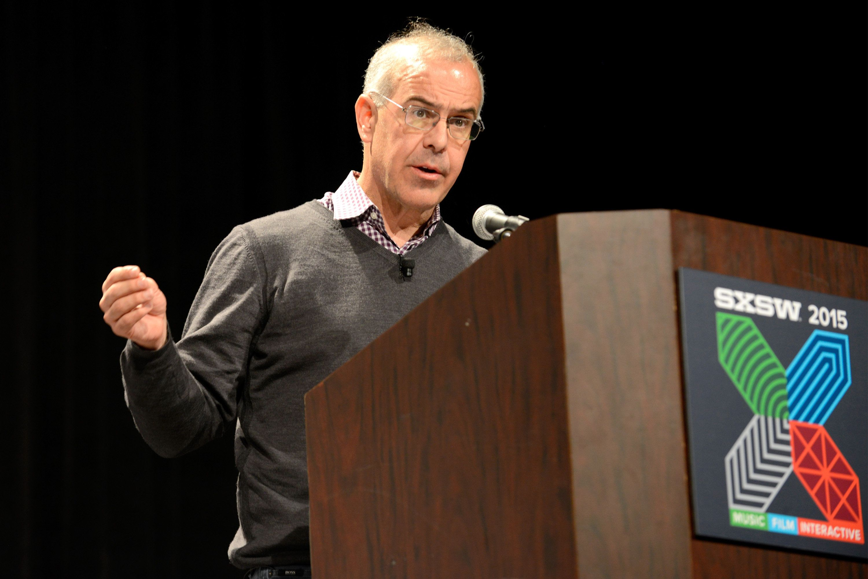 AUSTIN, TX - MARCH 13:  David Brooks, Op-Ed Columnist for The New York Times speaks onstage during 'The Road To Character' during the 2015 SXSW Music, Film + Interactive Festival at Austin Convention Center on March 13, 2015 in Austin, Texas.  (Photo by Robert A Tobiansky/Getty Images for SXSW)