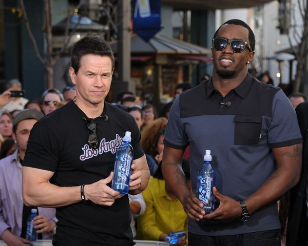 Wahlberg and Diddy may seem an unlikely duo, but they are both part-owners of a bottled water company called AQUAhydrate
