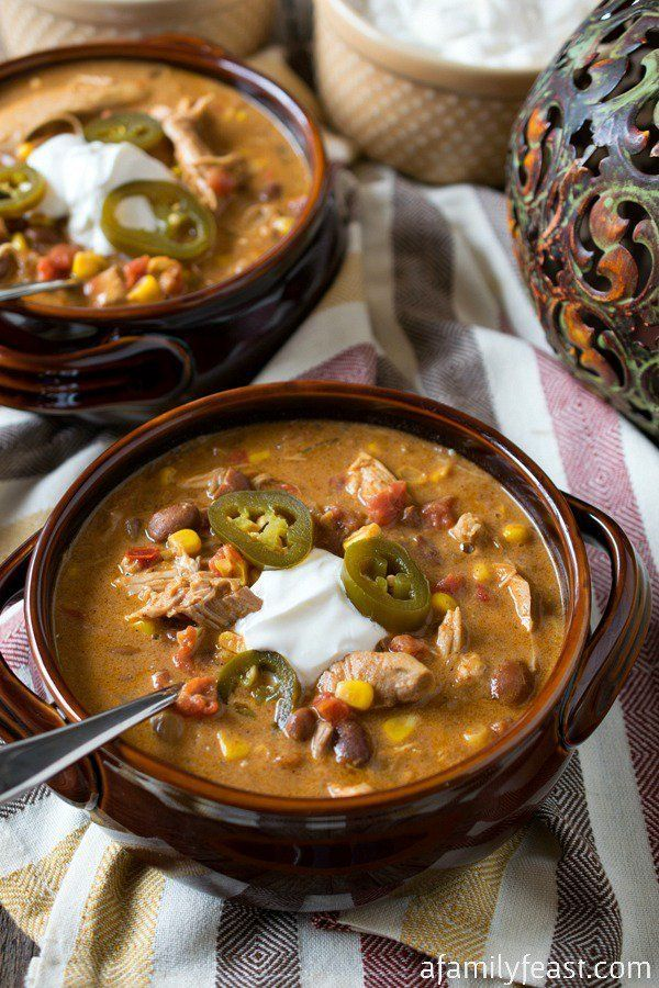 "<strong>Get the <a href=""http://www.afamilyfeast.com/slow-cooker-tex-mex-chicken-stew/"" target=""_blank"">Slow Cooker Tex-Mex C"