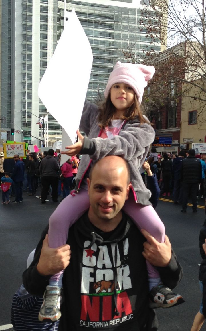 My daughter and I at Women's March in San Jose, CA.